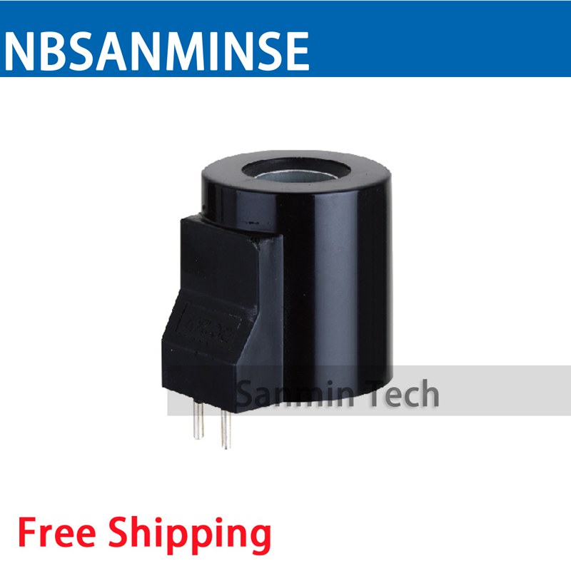 FMZ6 - 20YC Hydraulic Valve Coil Electrical Solenoid Valve Coil DC24V Voltage Contact Pin Type Valve Coil Sanmin hydraulic solenoid valve coil inside diameter 20mm high 58mm dc24v