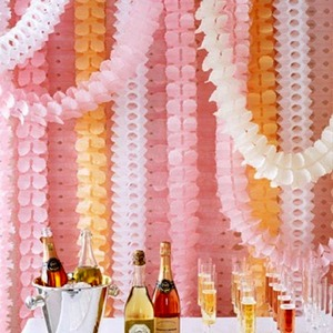 Image 1 - FENGRISE 3.6m 네 잎 클로버 화환 종이 배너 핑크 블루 생일 파티 웨딩 장식 멧새 방 장식 매달려