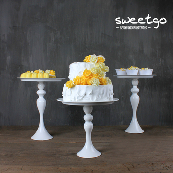 3pcs/set Modern wedding decoration Party Decorations Cake Stand Plate Bread wedding supplies birthday party decorations DGP037