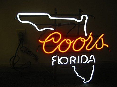 Custom Coors Florida Glass Neon Light Sign Beer Bar