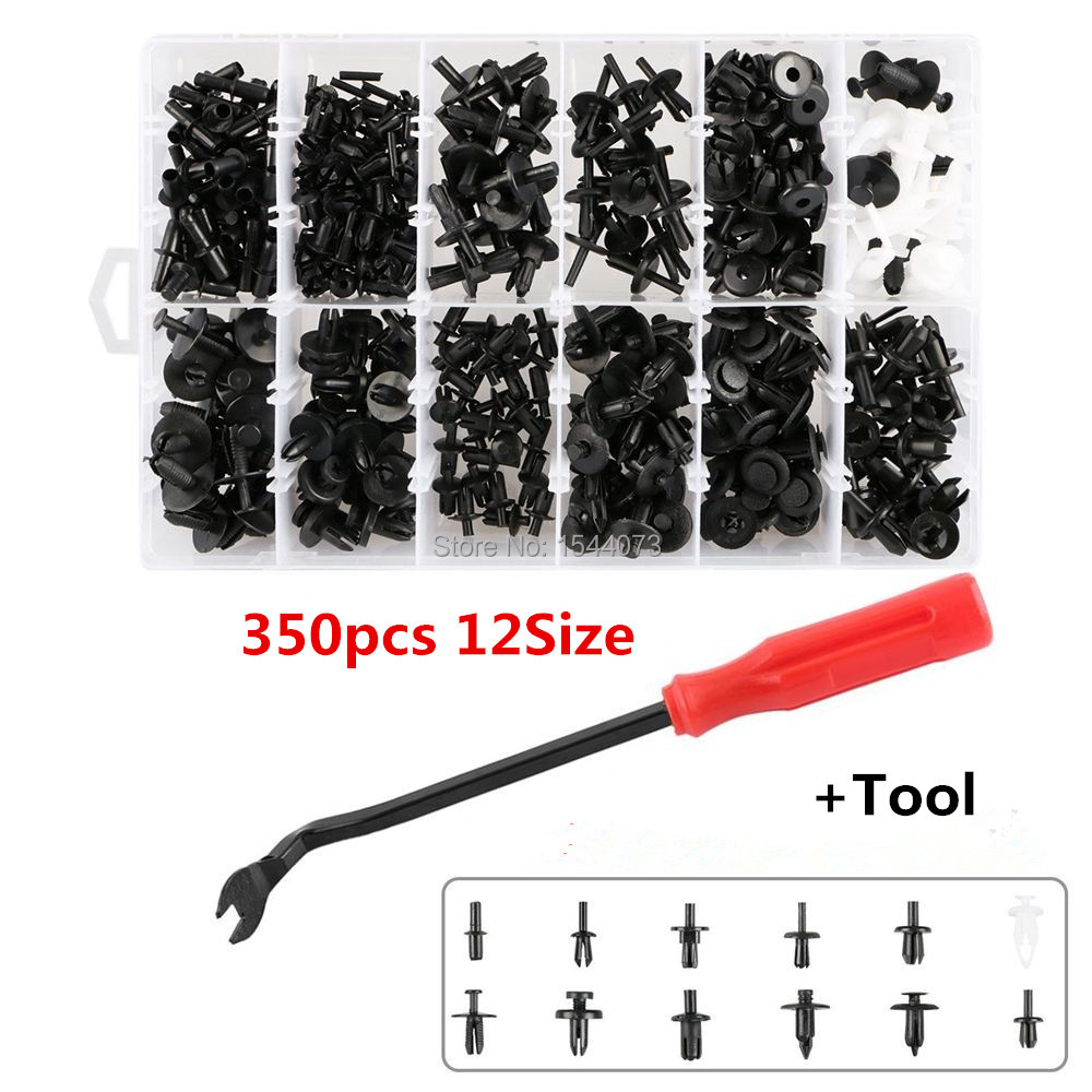 350Pcs Car Plastic Push Pin Rivet Fasteners Trim Moulding Clip Screwdriver Panel Clip + Tool Set for Volvo/BMW/Ford/Toyota/Honda rq12 replacement shaver heads for philips rq1250 rq1260 rq1280 rq1290 rq1250cc rq1260cc rq1280cc rq1050 rq1060 free shipping
