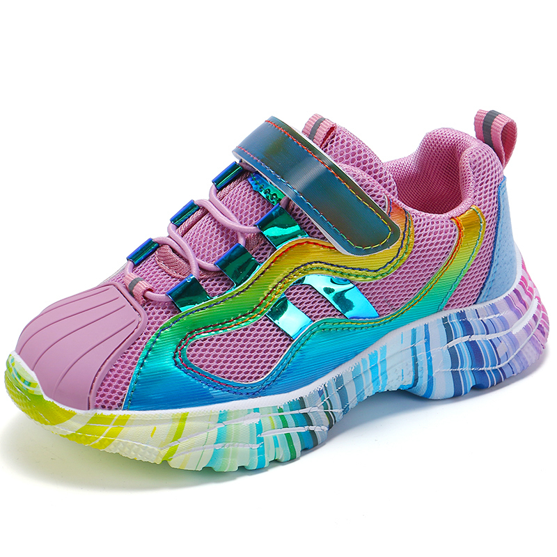 Image 2 - ULKNN Girls sports shoes 2019 spring new children's pink shoes baby mesh autumn breathable mesh red enfants shoe size 27 37-in Sneakers from Mother & Kids