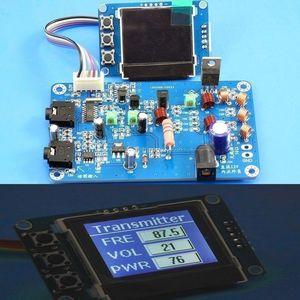 Image 1 - 5W 7w FM 송신기 라디오 방송국 PLL 스테레오 디지털 주파수 DIY 키트 76m 108 MHz 수신기 안테나 + lcd 디지털 디스플레이