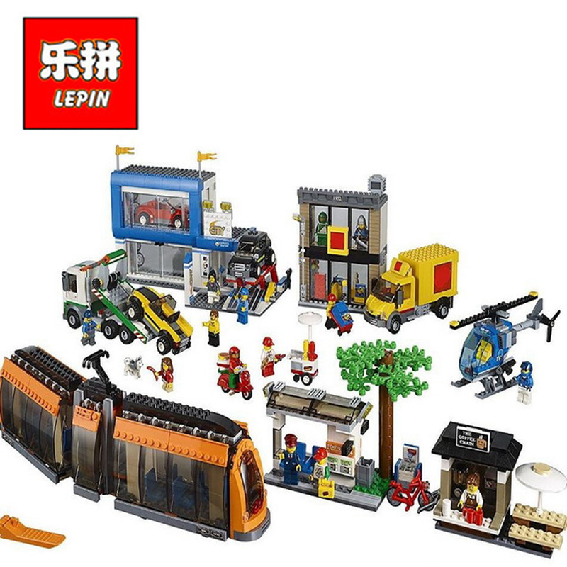 In Stock Lepin Sets 02038 1767Pcs City Figures Town City Square Model Building Kits Blocks Bricks Educational Kid Toy Gift 60097 lepin15003 2859pcs city series the town hall model building kits blocks kid toy gift compatible with 10224