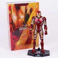 Heißer Spielzeug Avengers Iron Man Mark MK 43 mit LED Licht PVC Action Figure Sammeln Modell Spielzeug