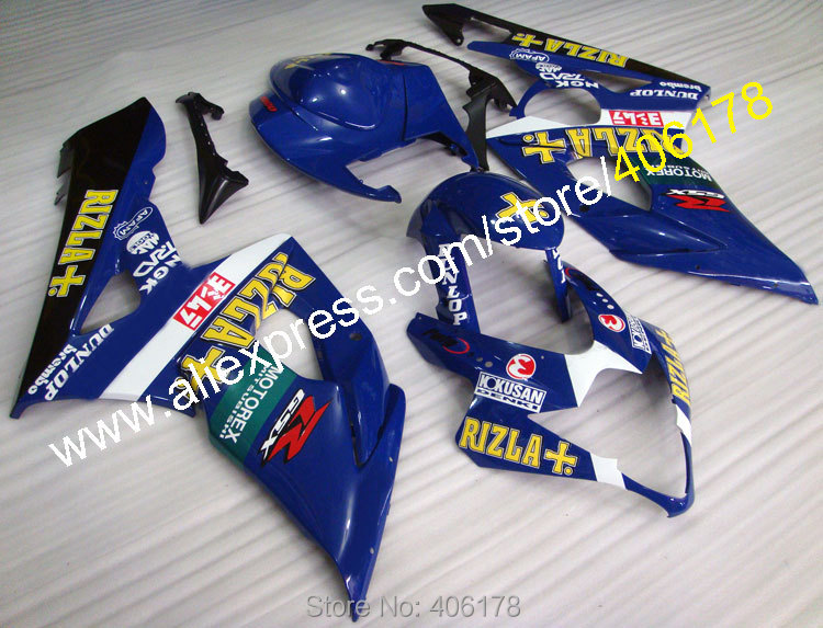 Hot Sales,For Suzuki Fairing K5 GSXR 1000 05-06 GSXR1000 GSX-R1000 RIZLA GSX R1000 K5 moto Body kit (Injection molding) custom road fairing kits for suzuki glossy flat black 2006 gsxr 1000 k5 2005 gsx r1000 06 05 motorcycle fairings kit