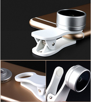 Clip Mobile Phone Photo Lens Fish eye+macro lens+wide angle lens For Wiko Jerry Max/Kenny/Harry/Tommy 2