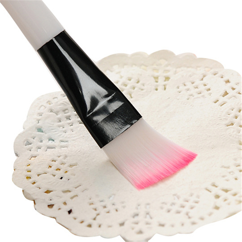1pc Professional Mask brush Soft Nylon Makeup Brushes White Plastic Handle Cosmetic Make up Tools 4