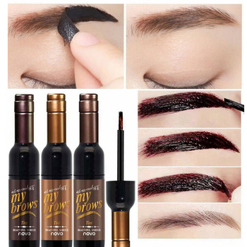 Peel-off Tattoo Eyebrow Gel Long-lasting Dye Tinted Brow Cream Waterproof Paint Makeup Eye Tint Cosmetics Black Brown Eyebrows