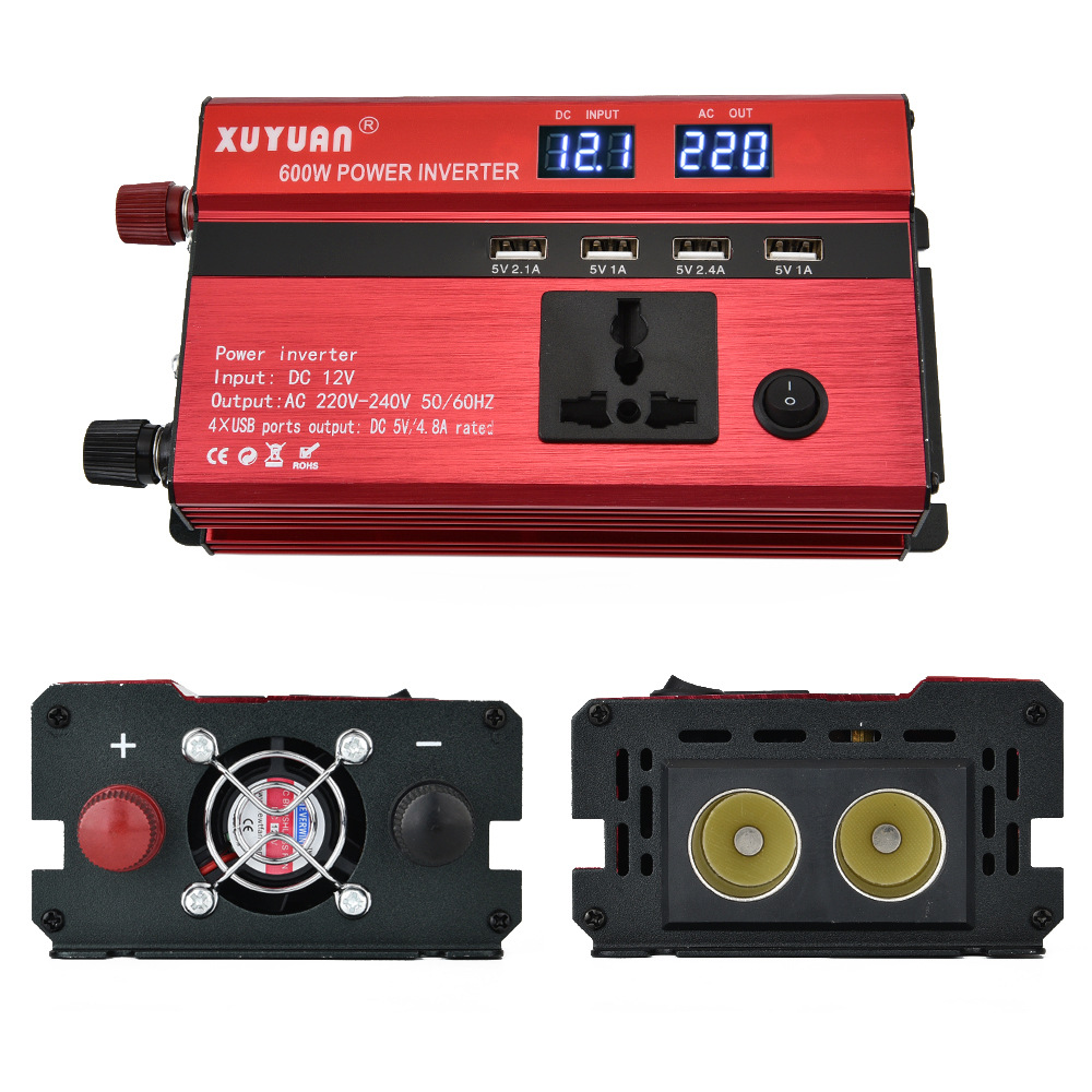 XUYUAN 600 watt DC 12 v Zu AC 230 v Solar Power <font><b>Inverter</b></font> Auto Automotive Power Converter image