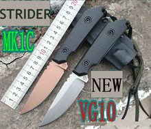 62HRC VG10 Steel Blade Strider G10 Handle Kydex Sheath Fixed Blade Knife Hunting Tactical Camping Survival Knives Outdoor Tools