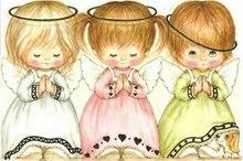 Фотография DIY 5d Diamond embroidery three angels diamond painting girl picture diamond mosaic cross stitch the paintings of rhinestone