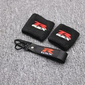 1 пара черный мотоциклетный передний тормоз резервуар носок масляный бак крышка рукав для Suzuki GSXR 600 750 1000 - Цвет: 7