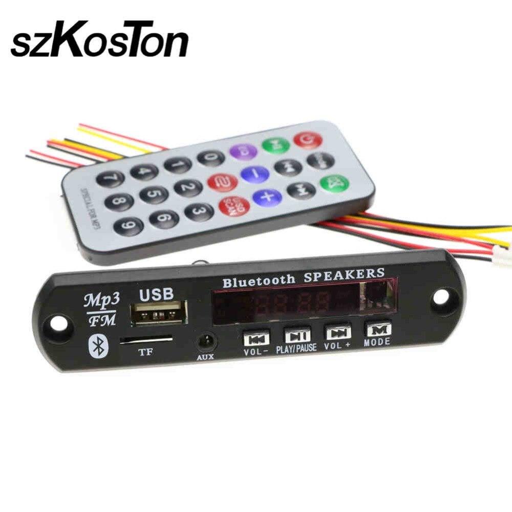 где купить 2017 Hot Wireless MP3 Bluetooth WMA Decoder Board Audio Module USB TF Radio For Car High Quality по лучшей цене