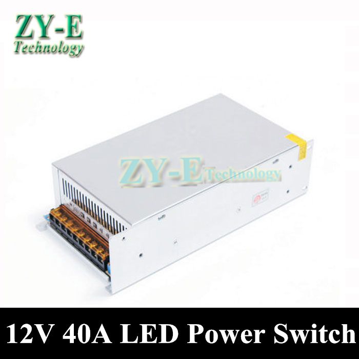 480W 12V 40A led transformer led Switch Power Supply Driver LED Strip light Display adapter AC110V-240V Input 12V free shipping 12v 3 2a 40w switch power supply driver for led light strip 110v 220v