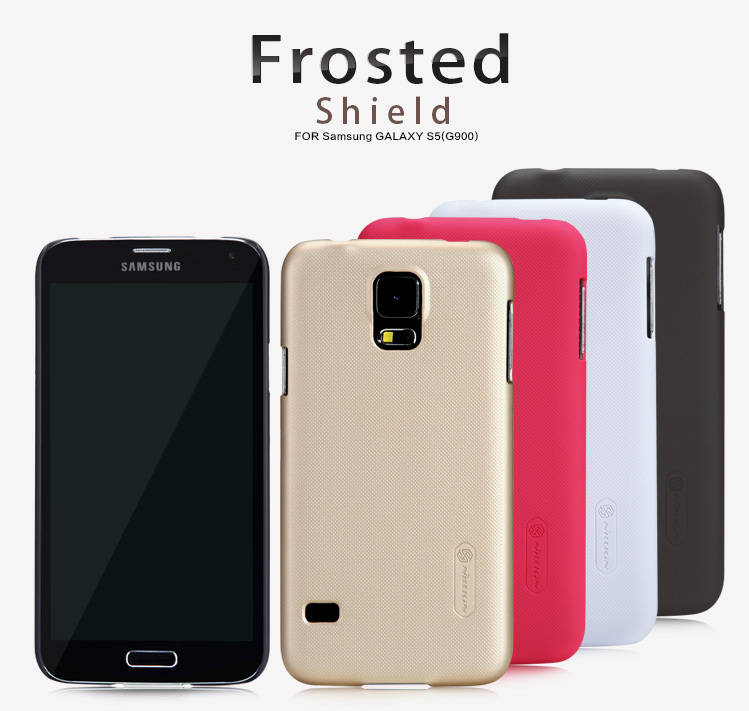 For samsung S5 Case , NILLKIN Super Frosted Shield case For Samsung Galaxy S5 Case+Screen protector for Samsung S5 Case