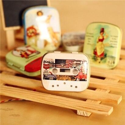 Freeshipping5style mini Marilyn Monroe tin Storage box zakka