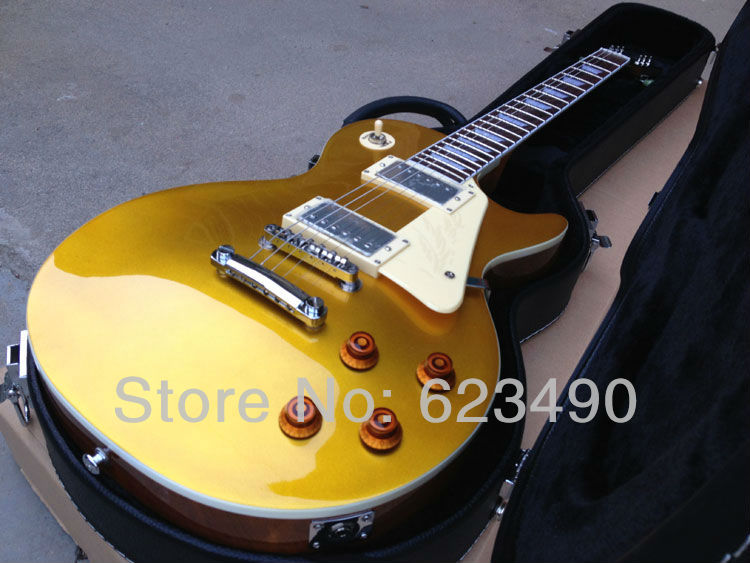 best price 1957 vos goldtop electric guitar new gold top electric guitar free shipping chrome. Black Bedroom Furniture Sets. Home Design Ideas