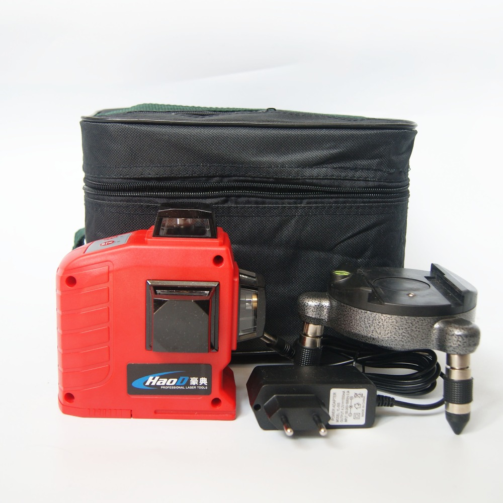 Professional 12 Line 3D laser level 360 Vertical And Horizontal Laser Level Self-leveling Cross Line 3D Laser Level with outdoor