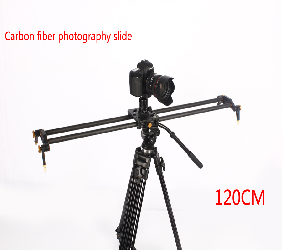 Inno New 120cm 6 Bearings Pro Carbon Fiber DSLR Camera DV Slider Track Video Stabilizer Rail Track Slider For DSLR or Camcorder ashanks 80cm 6 bearings carbon fiber slider dslr camera dv track slide