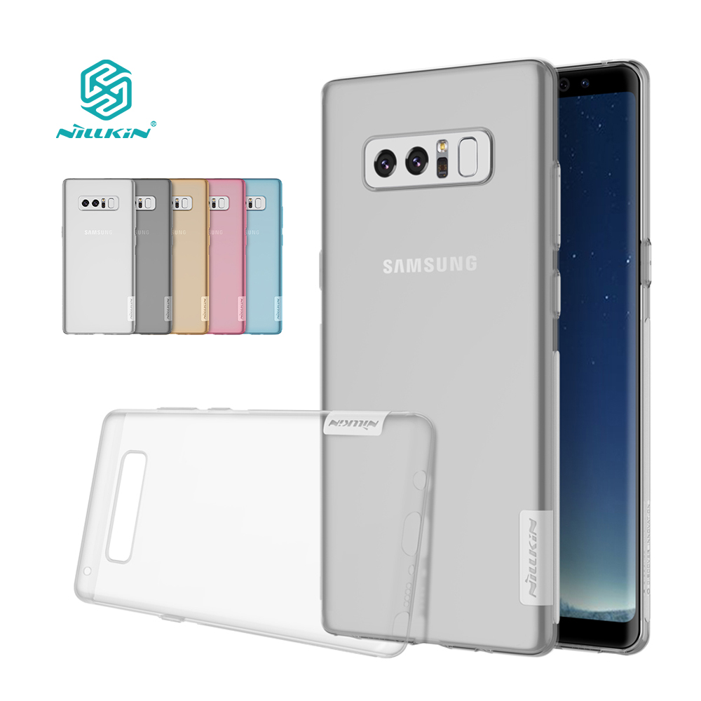 note 8 case Nillkin Nature Transparent Clear Soft silicon TPU Protector back cover for samsung galaxy note 8 case cover 6.32''