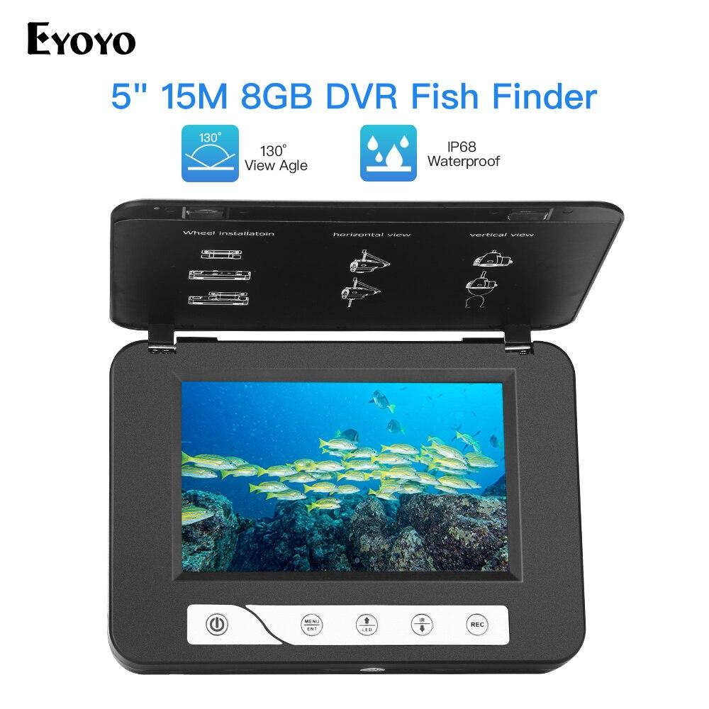 Eyoyo 15M 30M 5 800x480 resolution Underwater Ice Fishing Camera 4pcs Infrared 2pcs White LED Light