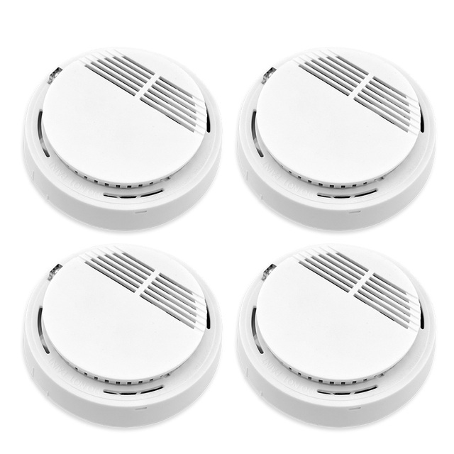 315mhz or 433mhz Home security system Cordless Wireless Smoke Detector Fire Alarm (without battery) 4pcs/lot