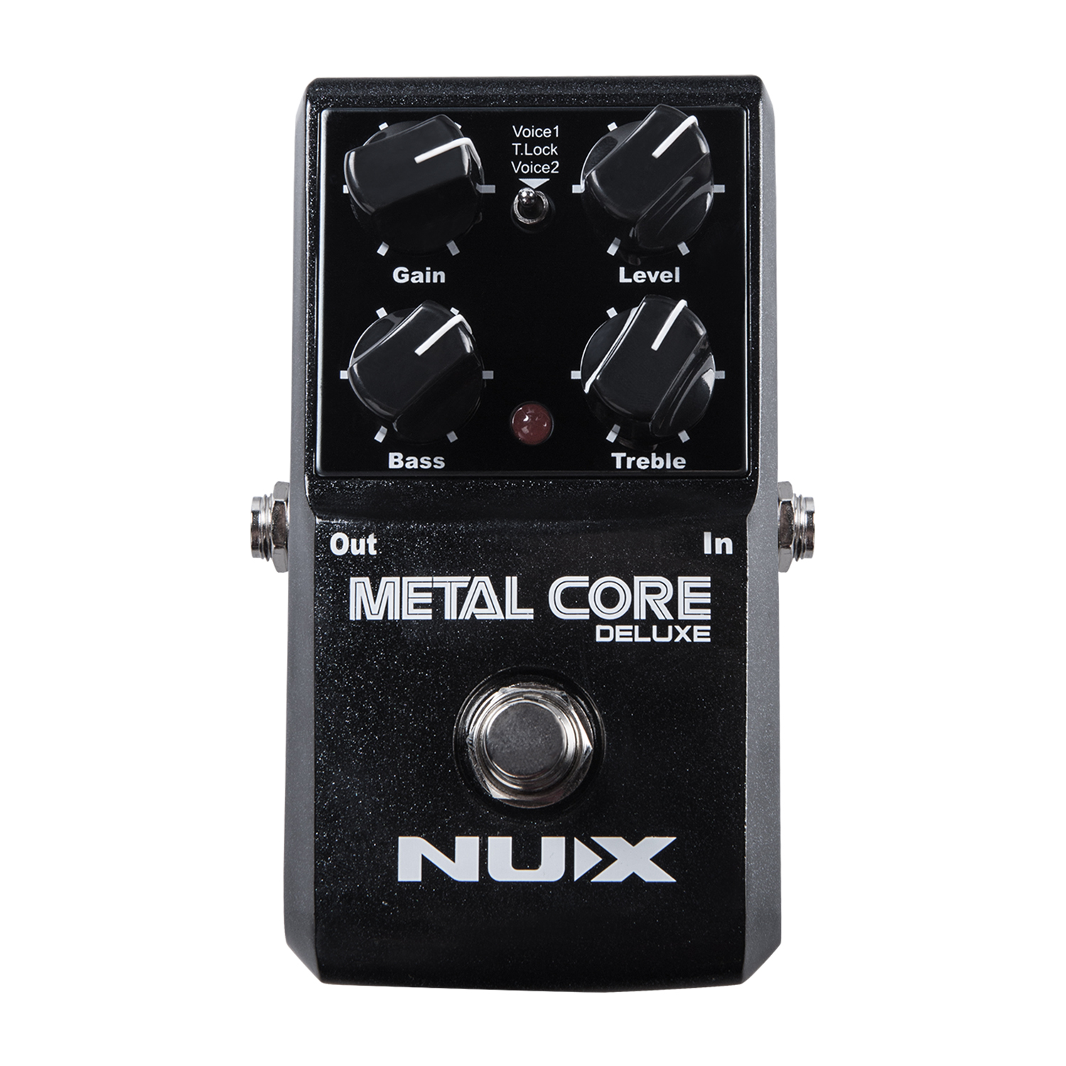 NUX Metal Core Deluxe Distortion Guitar Effect Pedal 2 Distortion Voices Tone Lock True Bypass 2-Band EQ Built-in Noise Gate steve cockram 5 voices
