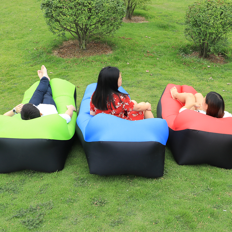 2017 High Quality Lazy Bag Pillow Sofa Outdoor Summer Down Sleeping Inflatable Air Beach Bed In Bags From Sports