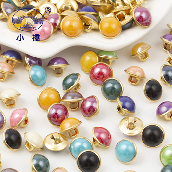 20PCS Metal Bottom Sewing Pearl Buttons Acryl Hand Made Rhinestone Mix Color Decorative For Clothing S150