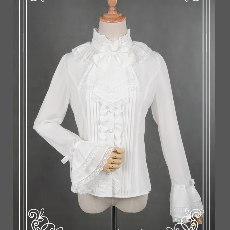 Bluzë e bardhë / e zezë byrynxhyk Bluzë e hollë e mëngë e - Veshje për femra - Foto 6