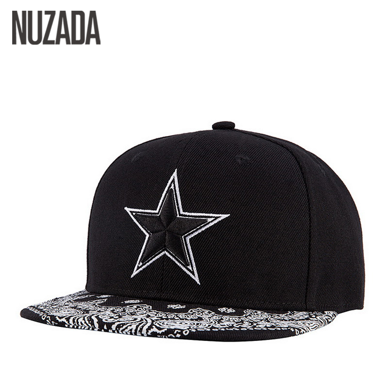Brands NUZADA Snapback Bone Women Men Baseball Caps Embroidery Five-Pointed Star Hats Hip Hop Cotton Cap jt-099 brand nuzada snapback summer baseball caps for men women fashion personality polyester cotton printing pattern cap hip hop hats