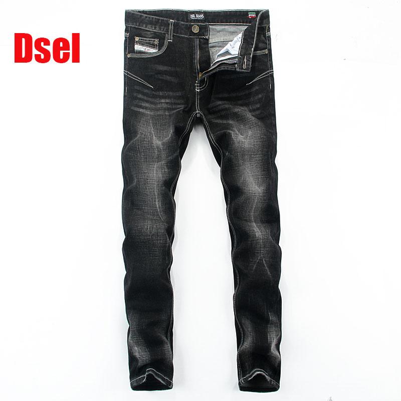 2017 New Dsel Brand Men Jeans,Skinny Jeans Men,Men Straight Fit Leisure Quality Cotton Biker Jeans Denim,black jeans!E702  2016 new dsel brand men jeans men fashion skinny jeans men men straight fit leisure quality cotton biker jeans denim