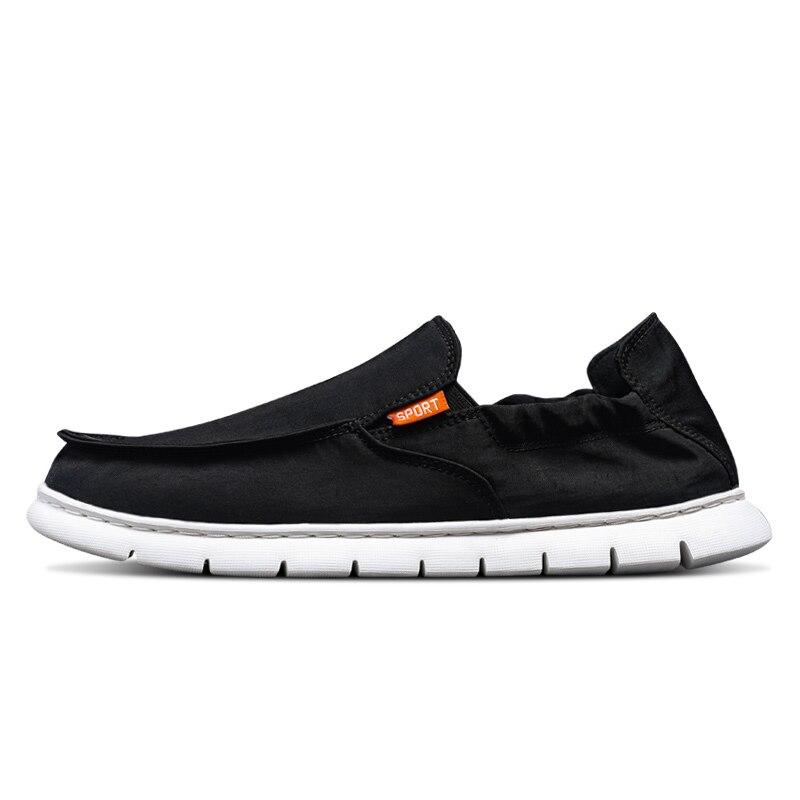 2019 printemps nouveau hommes respirant chaussures de sport vieux Beijing jeunesse décontracté toile paresseux doux fond une pédale