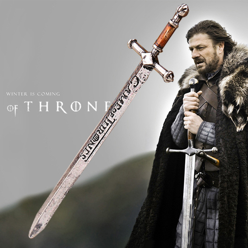 Ocean A Song of Ice and Fire Game of Thrones Valyrian Steel Ice Letter Opener Enamel Sword Red Drip Handles Jewelry