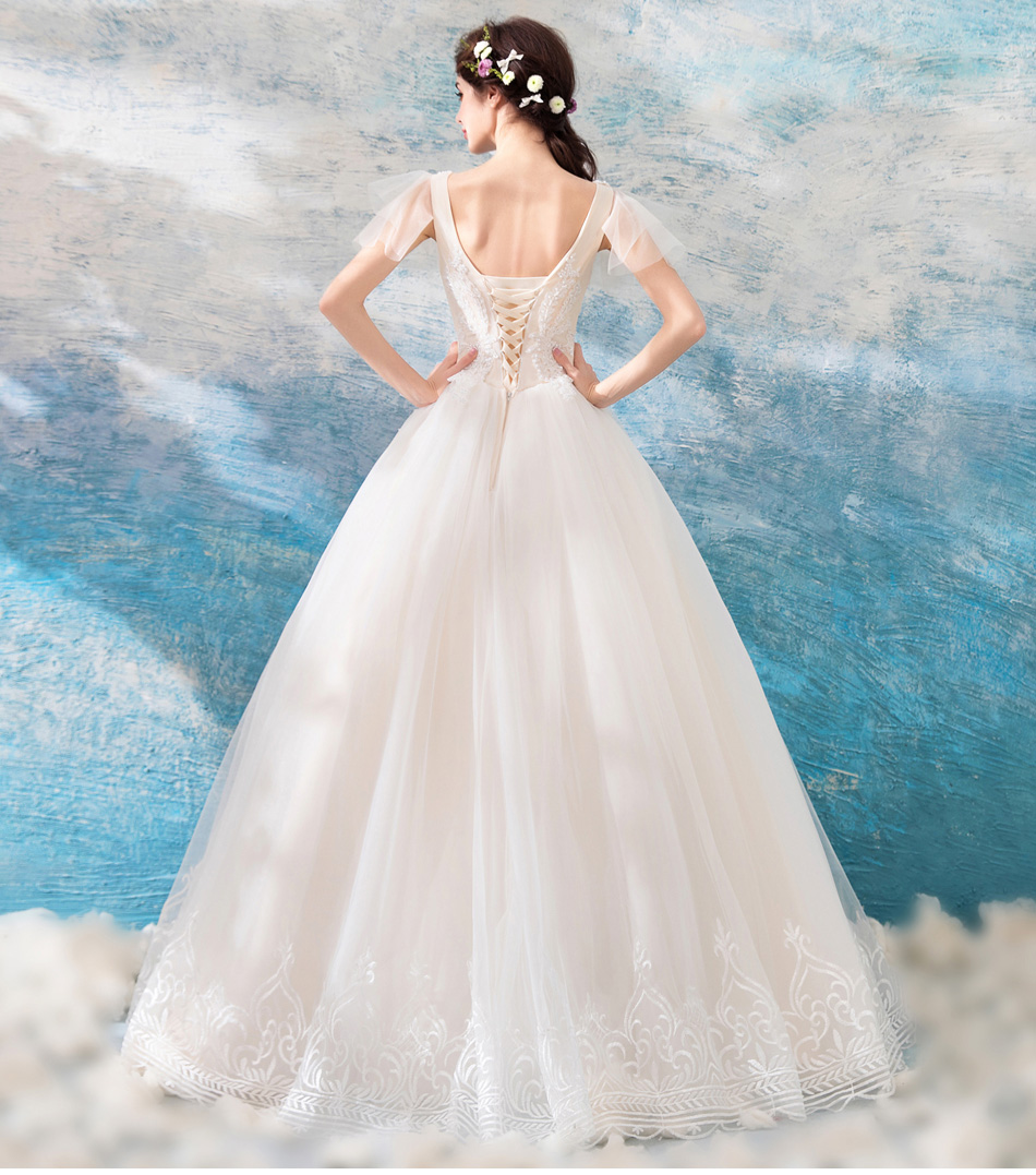 Walk Beside You Ball Gown Wedding Dresses Lace Sequined Pearl ...