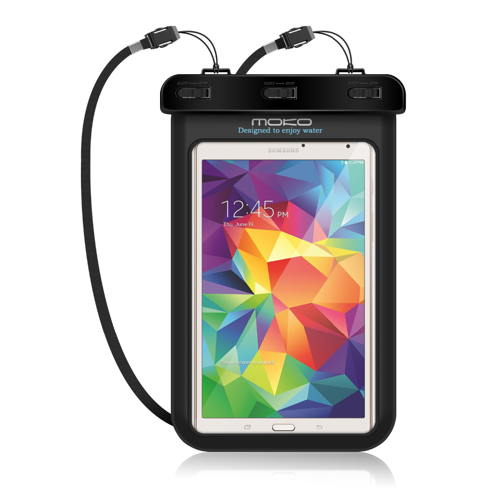 Universal Waterproof Case,MoKo Dry Bag Pouch for iPad Mini 4/3/2, Samsung Tab 5/4/3,Galaxy Note 8, Tab S2/Tab E & More Up to 8.3