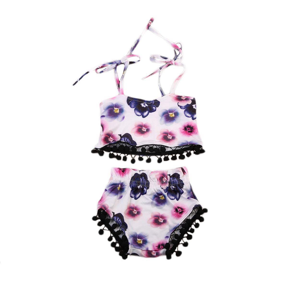 Baby Girl Summer Clothes Baby Girl Summer Floral Crop Top Vest Shorts 2pcs little Ball Outfit Set Baby Girl Clothing