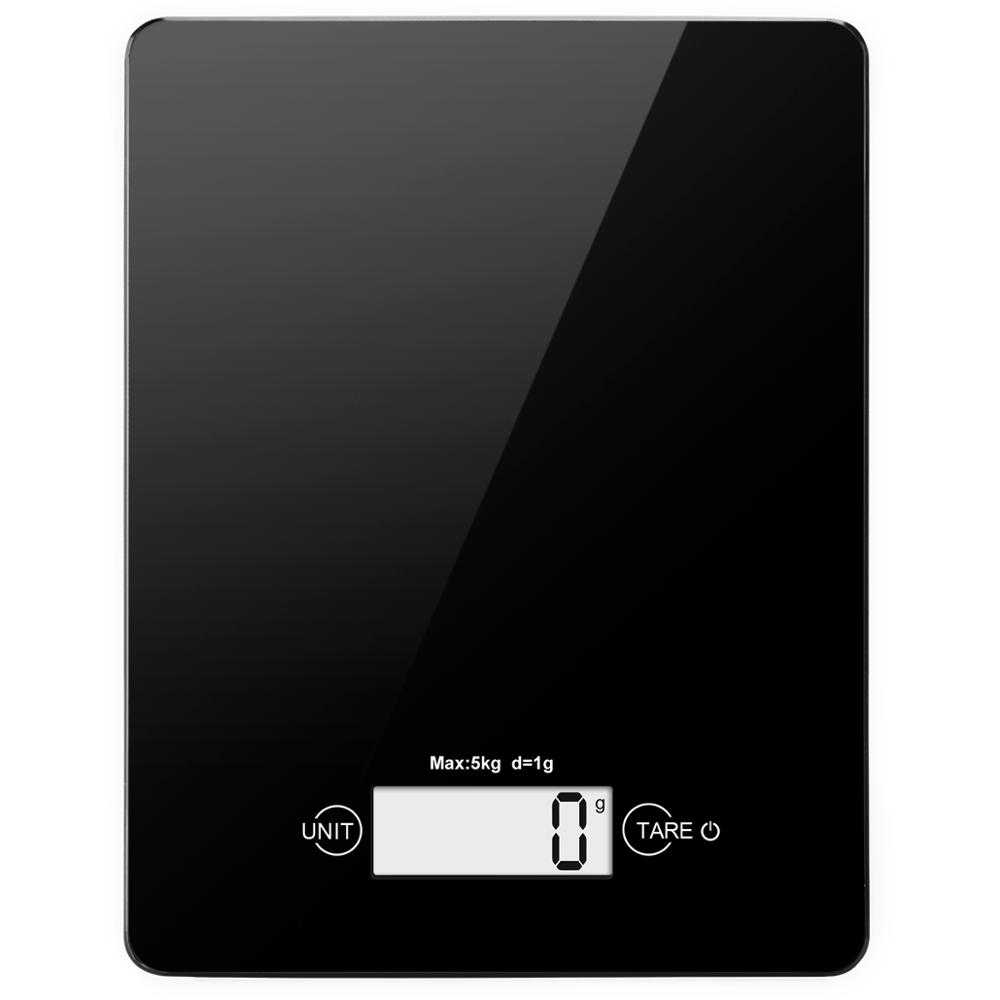 AMIR Digital Kitchen Scale 5kg/5g Electronic Scale LCD Mini Electronic Food Scales Weight Home Kitchen Scales Black