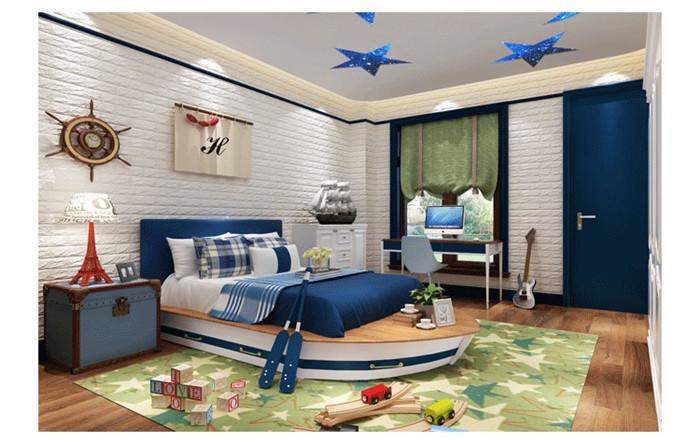 PCV 3D salon mur ceglany wzór tapety stickie dormitorium sypialnia retro wzór tapety adhesive392-F cegły 26