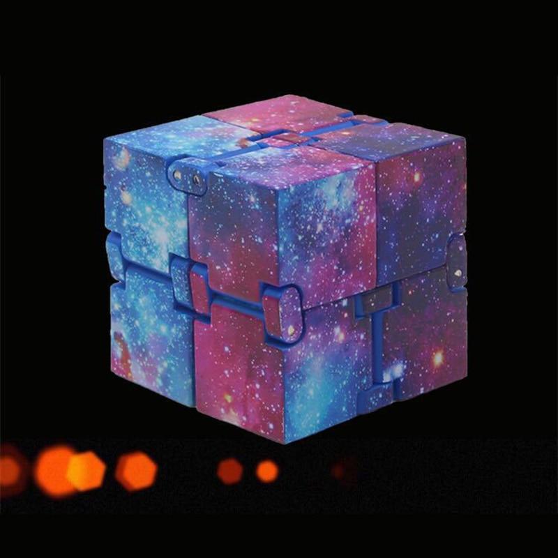 Fashion Stress Toy Infinity Magic Cube Mini Fidget Toy Finger EDC Anxiety Stress Relief Blocks Adult Children Kids Funny Toys