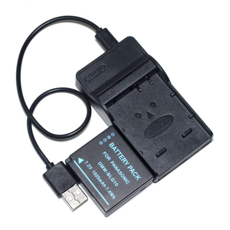 DMW-BLE9E BLE9PP DMW-BLG10E Battery + USB Charger for Panasonic DMC-TZ100 DC-TZ91 DMC-TZ101 DMC-TZ80 DMC-TZ81 DMC-S6 Camera