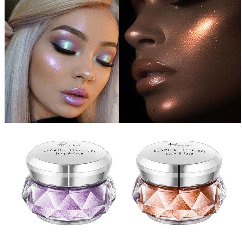 Eye Shadow 2019 Pudaier New Arrival Jelly Highlights Powder Jelly Gel Face High Light Liquid Body Highlight Cream Mermaid Eye Shadow Beauty & Health