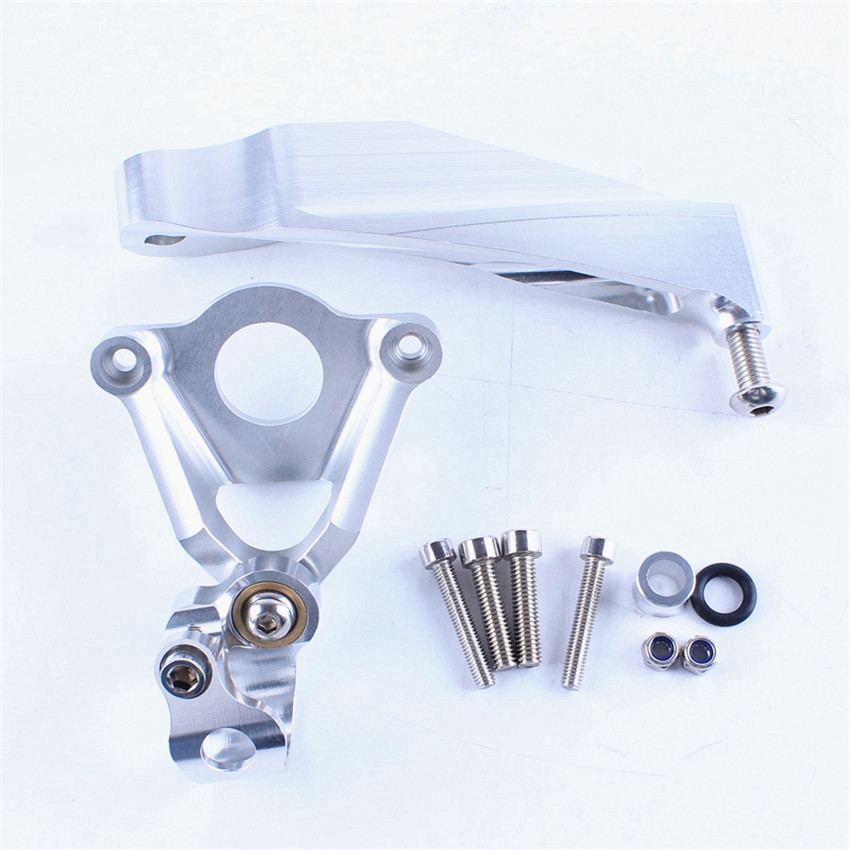 Steering Damper Stabilizer Bracket Kit For Honda CBR600RR CBR 600 RR 2007-2016 2013 2014 2015 Silver Motorcycle Accessories for ktm 200 duke 2013 2014 390 duke 2014 2015 2016 motorcycle accessories steering damper stabilizer with mounting bracket kit