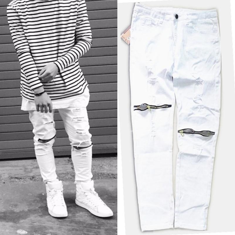 Black Ripped Skinny Jeans For Men