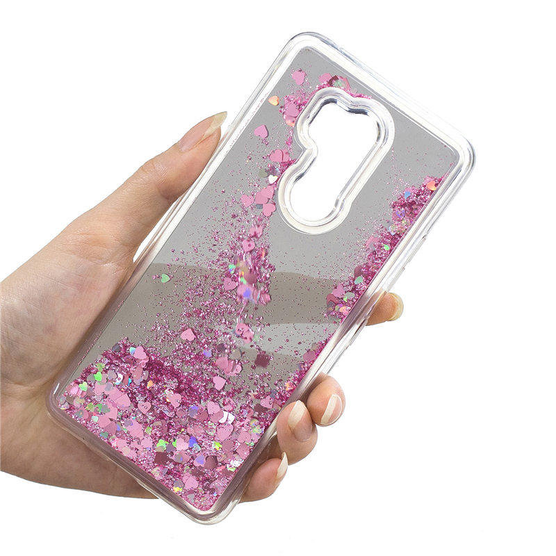 The Best Bling Liquid Sand Back Case For Lg G7 Thinq G6 Q6 2017 Glitter Quicksand Phone Cover With Make Up Mirror Anti Dust Scratch Half-wrapped Case Phone Bags & Cases