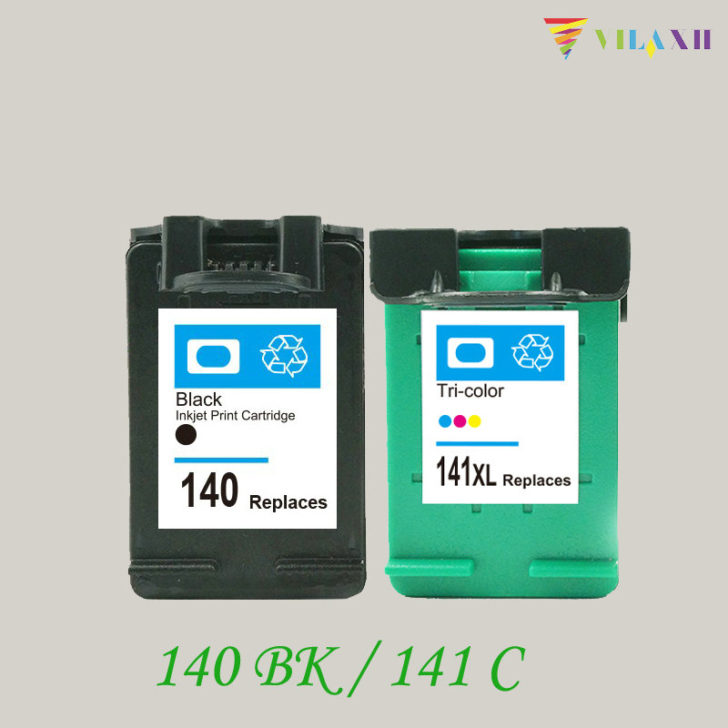 vilaxh Compatible Ink Cartridge Replacement for <font><b>HP</b></font> <font><b>140</b></font> <font><b>141</b></font> For Photosmart C4483 C4583 C4283 C5283 Deskjet D4263 D5363 Printer image