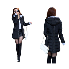 2016 new Women's Cotton-padded Jacket Winter Medium-long Down Cotton Parkas Plus Size Coat Female Slim Ladies Jackets And Coats
