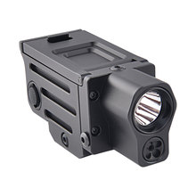 220 Lumens Hunting Tactical LED Flashlight Red Laser Weapon Light Mini Sight Optics Accessories Strobe Gun Light Picatinny Rail цены