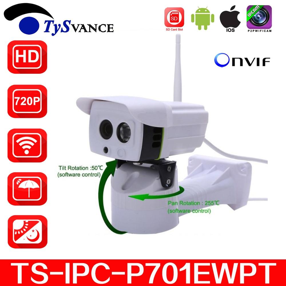 new SP-P701EWPT HD 720P Bullet IP Camera Wireless Wifi Pan Tilt Security Camera Waterproof IP66 P2P IR ONVIF With SD Card Slot цена